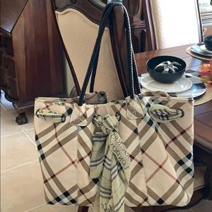 Large Plaid Tote Bag
